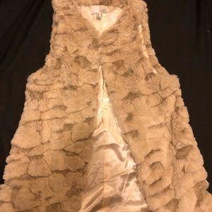 Long Faux Fur Vest O/S Perfect For Festivals!